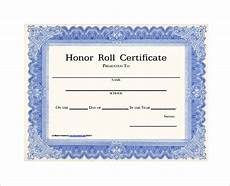 Honor Roll Certificate Templates 8 Printable Honor Roll Certificate Templates Amp Samples