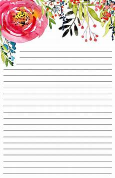 Free Downloadable Stationery Free Printable Floral Stationery Paper Trail Design