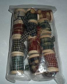 country primitive craft accents homespun fabric spools new