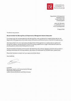 Write Letter Of Recommendation For Student 9 10 Letters Of Reference Examples Lascazuelasphilly Com