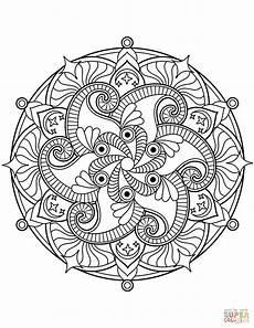 Malvorlagen Blumen Mandala Flower Mandala Coloring Page Free Printable Coloring Pages