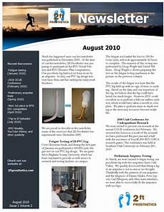 Templates For Newsletters In Word 2ftprosthetics August Newsletter