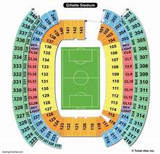 Gillette Stadium Soccer Seating Chart Gillette Stadium Seating Chart Seating Charts Amp Tickets