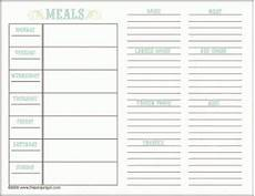 Meal Planner With Nutritional Information Thriftythursday My Favourite Meal Planning Templates