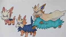 Trumbeak Evolution Chart How To Draw Pokemon No 506 Lillipup No 507 Herdier No