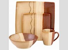 Sango Zanzibar Dinnerware Set in Brown (16 Piece) 4511 16W