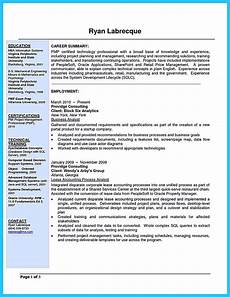 Example Of Business Resume Create Your Astonishing Business Analyst Resume And Gain