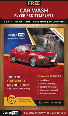 Car Wash Pictures For Flyer Free Car Wash Flyer Psd Template Designyep