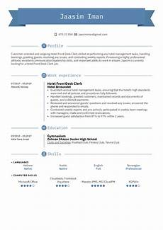 Hotel Desk Clerk Resume Hotel Front Desk Clerk Resume Sample Kickresume