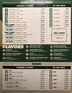Wingstop Spicy Chart Wing Stop Carry Out Menu