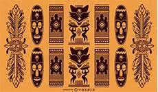 Afrikanische Muster Malvorlagen Xing Traditional Pattern Vector