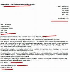 Resignation Letter Going Back To School Resignation Letter Example Returning To School