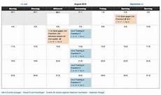 Calendar Tem Kostenloser Terminkalender F 252 R Sportvereine Und Teams