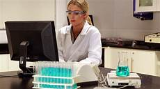 Scientists Computer Scientist Using Computer For Her Stock Footage Video 100