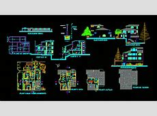 Terraced Houses with Garage 2D DWG Plan for AutoCAD ? Designs CAD