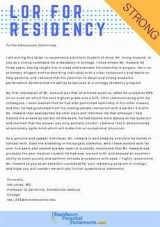 Letter Of Recommendation For Residency Sample Letter Of Recommendation For Residency 2019 2020