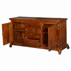country farmhouse solid wood freestanding 3 drawer buffet