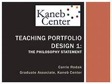Design Philosophy Statement Ppt Teaching Portfolio Design 1 The Philosophy