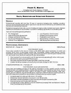 Sales Marketing Resume Sample Vp Sales Amp Marketing Resume Template Example