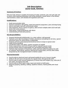 Head Cook Job Description Job Description Line Cook Entr 233 E Bc Industry Health