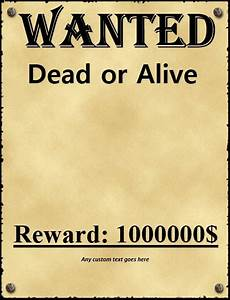 Wanted Poster Template For Pages 18 Free Wanted Poster Templates Fbi And Old West Free