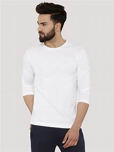 sleeve t shirts buy koovs 3 4 sleeve fit t shirt for s