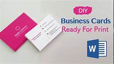 How To Make Business Cards In Word 2020 How To Create Your Business Cards In Word Professional