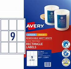 Avery Products Removable Rectangle Labels 980011 Avery Australia