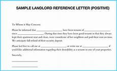 Letter Of Recommendation Landlord Landlord Reference Letter 5 Samples What Is It Amp How