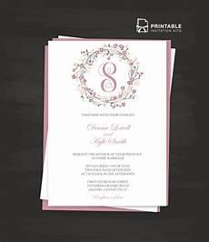 Wedding Invite Free Templates Floral Wreath Logo Invitation Template Wedding