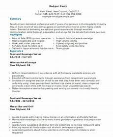 Resume For A Server 10 Server Resume Templates Pdf Doc Free Amp Premium