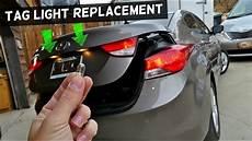 Hyundai Elantra Light Removal How To Replace Tag Light Bulb On Hyundai Elantra 2011 2012