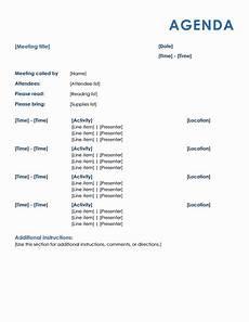 Business Agenda Format 15 Meeting Agenda Templates Excel Pdf Formats