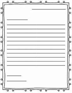 Letter Writing Paper Template Letter Writing Paper Friendly Letter By Adkins Tpt