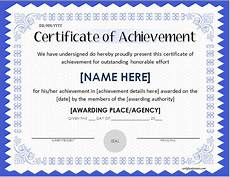 Achievement Certificates Template Scholarship Award Certificate Template Word Amp Excel