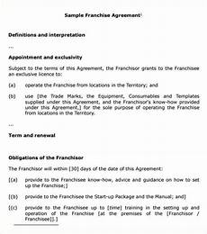 Franchise Contract Samples Top 5 Samples Of Franchise Agreement Templates Word