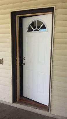door swing replacing and reversing a door swing from outward to