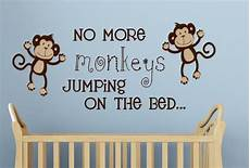 no more monkeys jumping on the bed wall decal vinyl