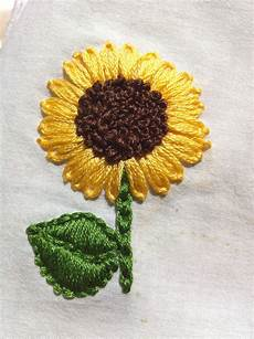 embroidery sunflower embroidered sunflower i m in stitches