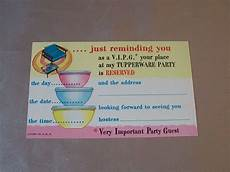 Tupperware Party Invitations Vintage Tupperware Invitation Party Post Card From