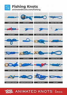 Fishing Knot Chart Pdf Fishing Knots By Grog Learn How To Tie Fishing Knots