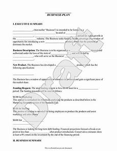New Business Outline Business Plan Template Free Amp Simple For Small Business