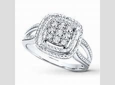 Diamond Ring Sterling Silver   900221502   Kay