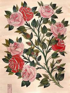 Japanese Rose Designs Rose Plant Drawing At Getdrawings Free Download