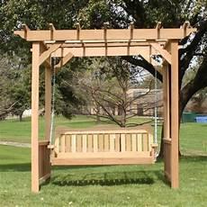 pergola swing tmp outdoor furniture decorative cedar deluxe arbor