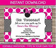Free Printable Minnie Mouse Invitations Minnie Mouse Party Invitations Template Birthday Party