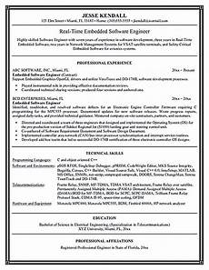 Resume Format Experienced Software Engineer Software Engineer Resume Includes Many Things About Your