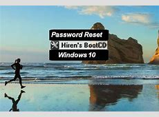 How To Reset A Windows 10 Password With Hirens Boot CD