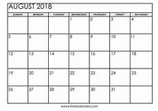 Printable Calendar August Free 5 August 2018 Calendar Printable Template Source