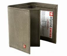 Alpine Swiss Mens Trifold Wallet Extra Capacity Multiple
